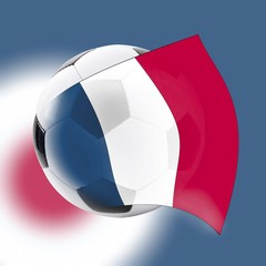 Football with French flag