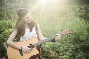 Young lady musician