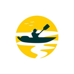 Kayaking Logo Illustration