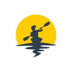 Kayaking Logo Illustration
