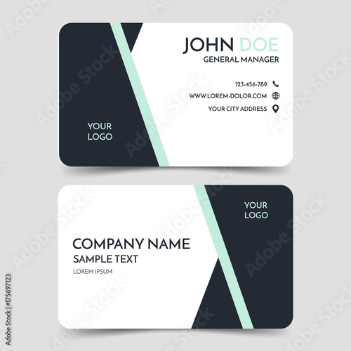 Black and white modern business card template vector minimal black and white modern business card template vector minimal corporate identity card design eps10 accmission Gallery