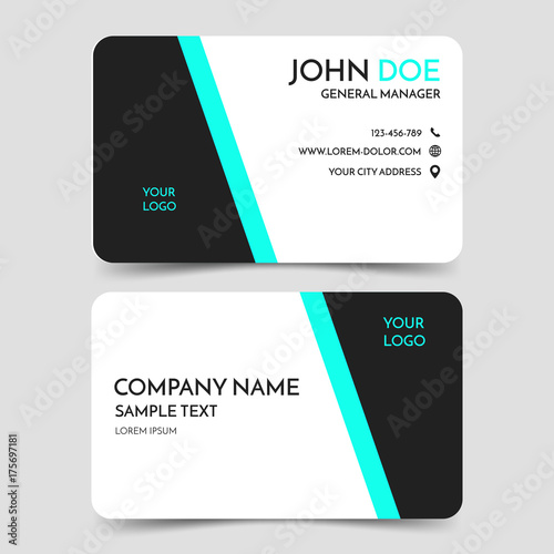 Green and black modern business card template vector minimal green and black modern business card template vector minimal corporate identity card design eps10 fbccfo Images