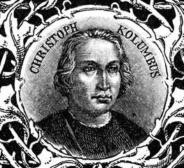 Christopher Columbus, italian explorer (from Spamers Illustrierte Weltgeschichte, 1894, 5[1], 3)