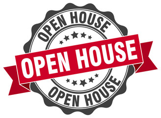 open house stamp. sign. seal
