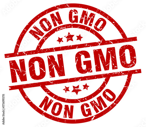 Non Gmo Round Red Grunge Stamp Stock Image And Royalty Free Vector