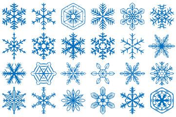 Snowflake Vector Ornaments Set 2