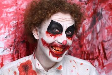 Clown joker make up