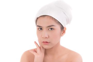Thai beauty woman  skin. Asian skin care.