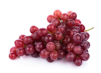 Ripe red grape isolated on white background