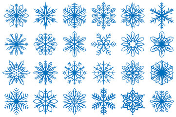 Snowflake Vector Ornaments Set 11