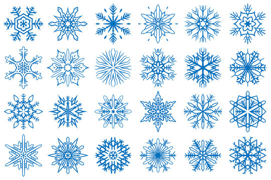 Snowflake Vector Ornaments Set 13