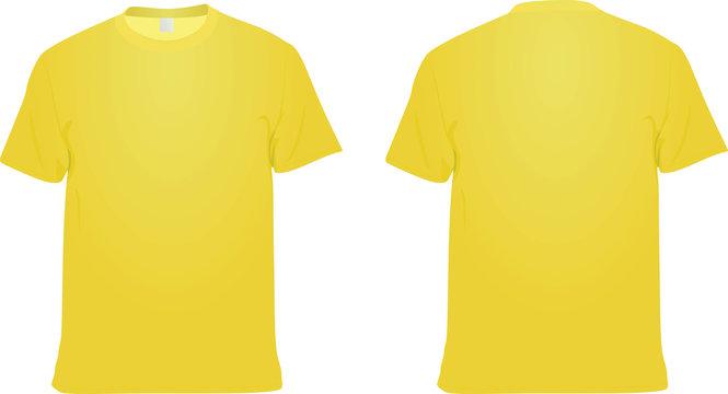 Yellow  t shirt. vector illustration