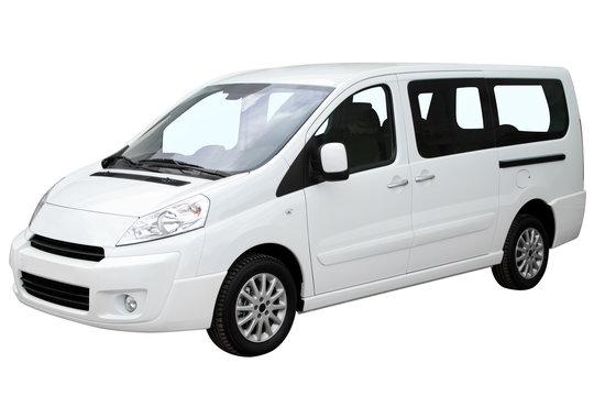 Modern white minivan.