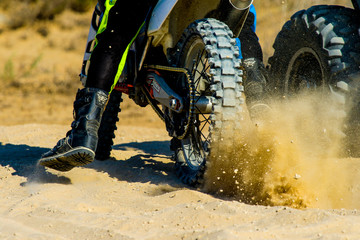 Motorcycle Sand Splash