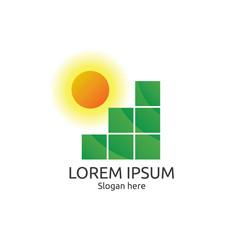 Sun and field logo. abstract tile concept design. logo template.