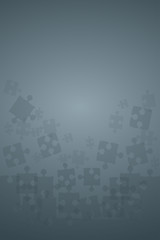 Grey Puzzles Pieces - Vector Illustration Jigsaw