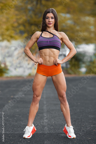 Sexy woman with abs