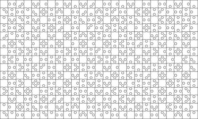 375 White Puzzles Pieces Jigsaw - Vector
