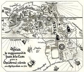 Map of Africa by Juan de la Cosa (from Spamers Illustrierte Weltgeschichte, 1894, 5[1], 39)