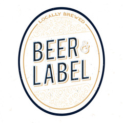 Minimalistic and simple beer bottle label design.