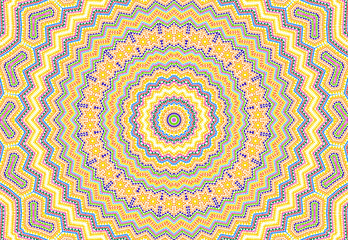 Bright abstract colorful concentric pattern