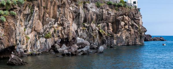 Geological structure of coastline