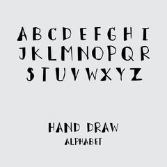 Alphabet design, Hand drawn style