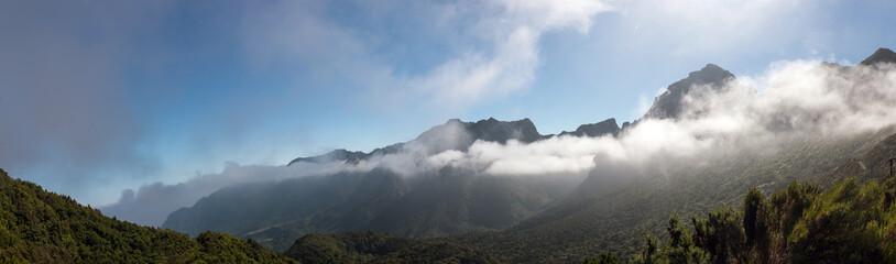 Coastal mountain landscape