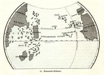 Map of Toscanelli (from Spamers Illustrierte Weltgeschichte, 1894, 5[1], 49)