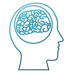 Human brain silhouette icon vector illustration graphic design