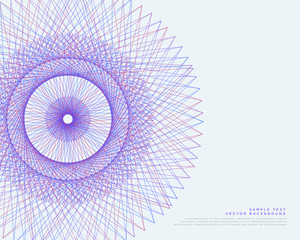 vector lines spirograph vector background
