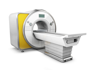 3d Illustration of Magnetic Resonance Imaging Machine Isolated on White Background. Medical and Science Equipment