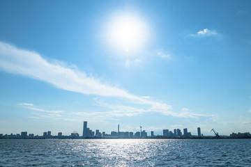 横浜港の風景 みなとみらいのスカイライン2