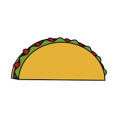 taco food mexican culture related icon image vector illustration design