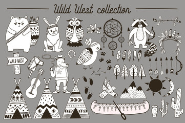 Boho collection with wild west design elements