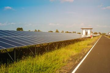 Solar farm renewable energy alternative of humanity