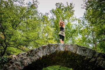 Le pont du Parayre sur le ruisseau d'Audiernes à Peyrusse-le-Roc