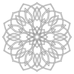 Simple geometric mandala.