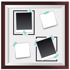 Picture frame with four empty spaces