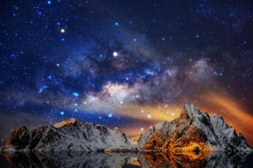 Milky Way over Norway.