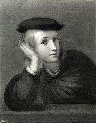 Self-portrait of Raphael, Italian painter and architect of the High Renaissance (from Spamers Illustrierte Weltgeschichte, 1894, 5[1], 121)