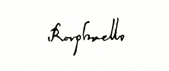 Autograph of Raphael, Italian painter and architect of the High Renaissance (from Spamers Illustrierte Weltgeschichte, 1894,