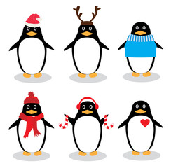 Vector Funny Penguins