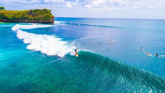 Surfers. Balangan beach. Bali, Indonesia.