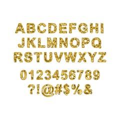 Alphabet pixel vector art