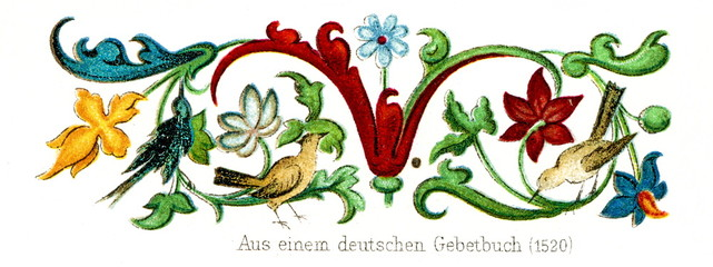 Ornament from the german prayer book, 1520 (from Meyers Lexikon, 1896, 13/248/249)
