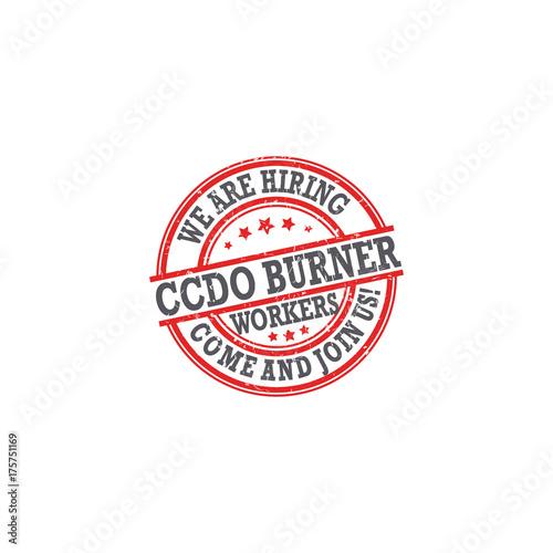 We are hiring burner  Label / sticker for print, designed