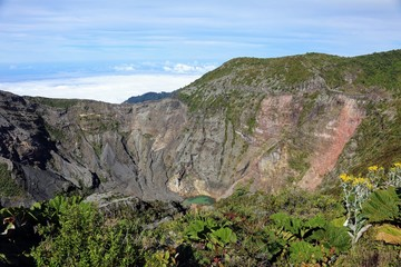 Irazu volcano crater lake Costa Rica