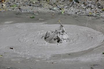 Volcanic bubble mud of Rincon de la Vieja volcano Costa Rica