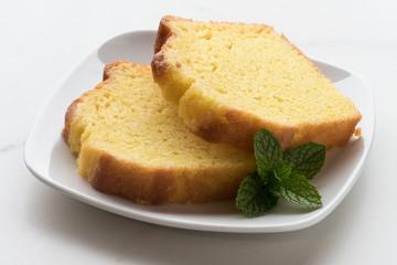 Lemon Loaf Cake Slices
